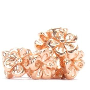 Jewelry - Rose Gold Sterling Silver Flower Spacer Charms